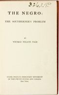 Books:Americana & American History, Thomas Nelson Page. The Negro: The Southerner's Problem. NewYork: Young People's Missionary Movement of the United ...