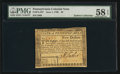 Colonial Notes:Pennsylvania, Pennsylvania June 1, 1780 $5 PMG Choice About Unc 58 EPQ.. ...