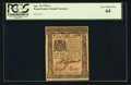 Colonial Notes:Pennsylvania, Pennsylvania April 25, 1776 1s PCGS Very Choice New 64.. ...