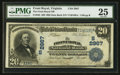 National Bank Notes:Virginia, Front Royal, VA - $20 1902 Date Back Fr. 642 The Front Royal NB Ch.# (S)2967. ...
