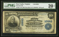 National Bank Notes:Virginia, New Castle, VA - $10 1902 Plain Back Fr. 632 The First NB Ch. #10993. ...