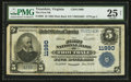 National Bank Notes:Virginia, Troutdale, VA - $5 1902 Plain Back Fr. 608 The First NB Ch. #11990. ...
