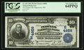 National Bank Notes:Maryland, Hagerstown, MD - $10 1902 Plain Back Fr. 629 The Peoples NB Ch. #(E)4856. ...
