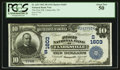 National Bank Notes:Tennessee, Clarksville, TN - $10 1902 Plain Back Fr. 625 The First NB Ch. #(S)1603. ...