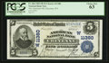 National Bank Notes:Wyoming, Cheyenne, WY - $5 1902 Plain Back Fr. 606 The American NB Ch. #(W)11380. ...