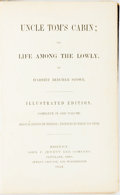 Books:Literature Pre-1900, Harriet Beecher Stowe. Uncle Tom's Cabin; or, Life Among theLowly. Boston: John P. Jewett, 1853. Illustrated editio...