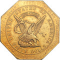 Territorial Gold, 1852 $50 Assay Office Fifty Dollar, 900 Thous. AU55 NGC. K-14, High R.5....