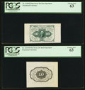 Fractional Currency:First Issue, Fr. 1243SP 10¢ First Issue Medium Margin Pair PCGS Choice New 63..... (Total: 2 notes)