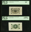 Fractional Currency:Third Issue, Fr. 1227SP 3¢ Third Issue Wide Margin Pair PCGS Gem New 65PPQ and Gem New 65.. ... (Total: 2 notes)