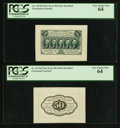 Fractional Currency:First Issue, Fr. 1313SP 50¢ First Issue Wide Margin Pair PCGS Very Choice New64.. ... (Total: 2 notes)