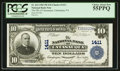 National Bank Notes:Pennsylvania, Catasauqua, PA - $10 1902 Plain Back Fr. 624 The NB of CatasauquaCh. # 1411. ...