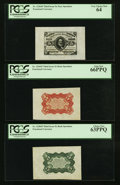 Fractional Currency:Third Issue, Fr. 1236/8SP 5¢ Third Issue Wide Margin Set of 3 PCGS Gem New 66PPQ, Very Choice New 64 and Choice New 63PPQ.. ... (Total: 3 notes)