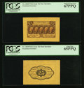 Fractional Currency:First Issue, Fr. 1282SP 25¢ First Issue Wide Margin Pair PCGS Superb Gem New67PPQ and Gem New 65PPQ.. ... (Total: 2 notes)