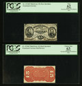 Fractional Currency:Third Issue, Fr. 1274SP/1276SP 15¢ Third Issue Narrow Margin Pair PCGS Apparent Choice New 63 and Apparent New 62.. ... (Total: 2 notes)