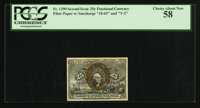 Fr. 1290 25¢ Second Issue PCGS Choice About New 58