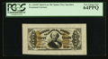 Fractional Currency:Third Issue, Fr. 1324SP 50¢ Third Issue Spinner Wide Margin Face PCGS Very Choice New 64PPQ.. ...