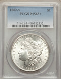 Morgan Dollars: , 1882-S $1 MS65+ PCGS. PCGS Population (17346/5406). NGC Census: (18337/8116). Mintage: 9,250,000. Numismedia Wsl. Price for...