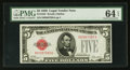 Small Size:Legal Tender Notes, Fr. 1525 $5 1928 Legal Tender Note. PMG Choice Uncirculated 64 EPQ.. ...