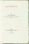 Books:Literature Pre-1900, Joh Masefield. SIGNED/LIMITED. Sonnets. New York: Macmillan Co., 1916....