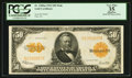 Large Size:Gold Certificates, Fr. 1200 $50 1922 Mule Gold Certificate PCGS Apparent Very Fine35.. ...