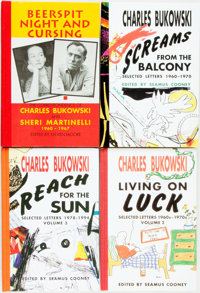 Charles Bukowski. SIGNED/LIMITED. Group of Four Volumes of Correspondence