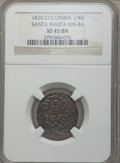 Colombia, Colombia: Santa Marta 1/4 Real 1820 XF45 Brown NGC,...