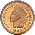 Proof Indian Cents, 1864 1C L On Ribbon PR65 Red and Brown PCGS. CAC. Snow-PR2....