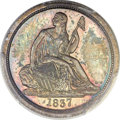 Proof Seated Dimes, 1837 10C No Stars PR65 PCGS. CAC. Fortin-101. ...