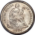 Seated Dimes, 1884 10C MS68 PCGS. CAC....