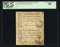 Colonial Notes:South Carolina, South Carolina April 10, 1778 3s/9d and 10s Vertical Pair PCGSChoice About New 58.. ...