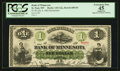 Obsoletes By State:Minnesota, Saint Paul, MN- The Bank of Minnesota $1 July 4, 1862 G2a Hewitt680-D1. ...