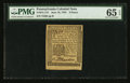 Colonial Notes:Pennsylvania, Pennsylvania June 18, 1764 3d PMG Gem Uncirculated 65 EPQ.. ...