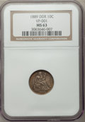 Seated Dimes: , 1889 10C Doubled Die Reverse , FS-801 MS63 NGC. VP-001. PCGSPopulation (1/4). Mintage: 7,380,711. ...