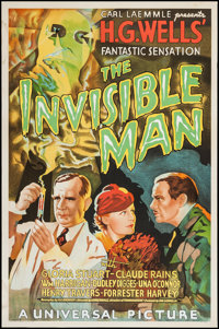 "The Invisible Man (S2 Art Group, 1999). Reproduction One Sheet (27"" X 41""). Horror"