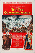 "Movie Posters:Drama, The Ten Commandments (Paramount, 1956). One Sheet (28"" X 42"") Style A. Drama.. ..."