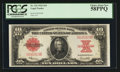 Large Size:Legal Tender Notes, Fr. 123 $10 1923 Legal Tender PCGS Choice About New 58PPQ.. ...