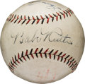 Autographs:Baseballs, 1926-27 Babe Ruth & Lou Gehrig Signed Baseball, PSA/DNA NM-MT 8....