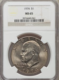 Eisenhower Dollars: , 1974 $1 MS65 NGC. NGC Census: (655/59). PCGS Population (1034/120). Mintage: 27,366,000. Numismedia Wsl. Price for problem ...