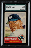 Baseball Cards:Singles (1950-1959), 1953 Topps Mickey Mantle #82 SGC Authentic. ...