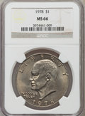 Eisenhower Dollars: , 1978 $1 MS66 NGC. NGC Census: (139/5). PCGS Population (363/5). Mintage: 25,702,000. Numismedia Wsl. Price for problem free...