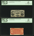 Fractional Currency:Third Issue, Fr. 1274SP 15¢ Third Issue Narrow Margin Pair PCGS Apparent New 62.. ... (Total: 2 notes)