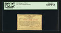 Colonial Notes:New York, New York January 6, 1776 (Water Works) 2s PCGS Gem New 66PPQ.. ...