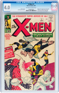 X-Men #1 (Marvel, 1963) CGC VG 4.0 Off-white to white pages
