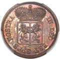 Netherlands East Indies, Netherlands East Indies: United East India Company copper SpecimenDuit 1791 SP63 Brown PCGS,...