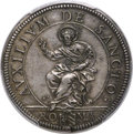 Italy, Italy: Papal States. Clement IX Testone ND (1667-69) AU58 PCGS,...