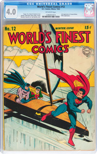 World's Finest Comics #12 (DC, 1943) CGC VG 4.0 Off-white pages