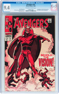 Silver Age (1956-1969):Superhero, The Avengers #57 (Marvel, 1968) CGC NM 9.4 Off-white to whitepages....