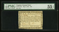 Colonial Notes:Virginia, Virginia May 7, 1781 $10 PMG About Uncirculated 55 EPQ.. ...