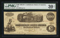 "Confederate Notes:1862 Issues, Manuscript Endorsement ""John C. Shipley"" T40 $100 1862 PF-20 Cr.308.. ..."