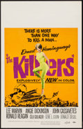 "Movie Posters:Crime, The Killers (Universal, 1964). Window Card (14"" X 22""). Crime.. ..."